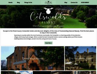 cotswoldsfinesthotels.com screenshot