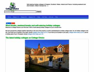 cottage-choice.co.uk screenshot