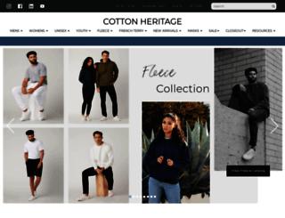 cottonheritage.com screenshot