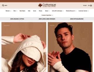 cottonique2.myshopify.com screenshot