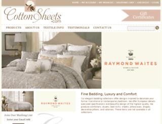 cottonsheets.com screenshot