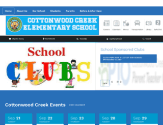 cottonwoodcreek.cherrycreekschools.org screenshot