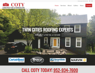 cotyconstruction.com screenshot