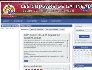 cougarsnob.hockeygatineau.com screenshot