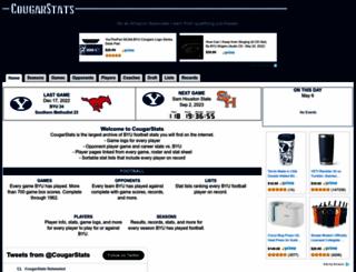 cougarstats.com screenshot