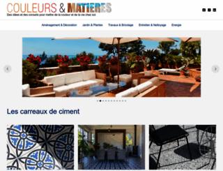 couleurs-et-matieres.fr screenshot