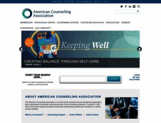counseling.org screenshot