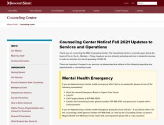 counselingcenter.missouristate.edu screenshot