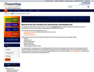 counselingformsonline.com screenshot