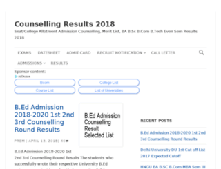 counsellingresults.in screenshot
