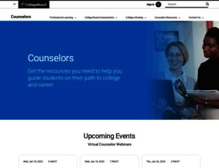 counselorworkshops.collegeboard.org screenshot