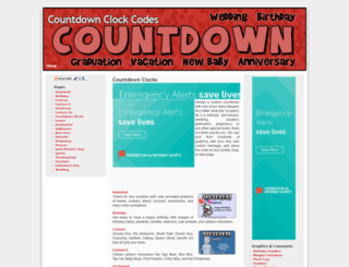 countdownclockcodes.com screenshot