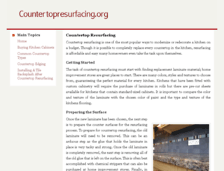 countertopresurfacing.org screenshot