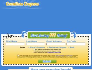 countlesscoupons.com screenshot