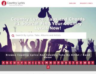 country-lyrics.com screenshot
