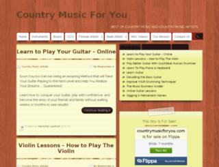 countrymusicforyou.com screenshot