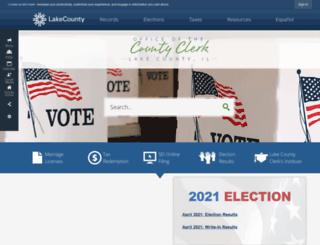 countyclerk.lakecountyil.gov screenshot