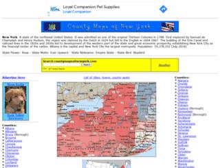 countymapsofnewyork.com screenshot