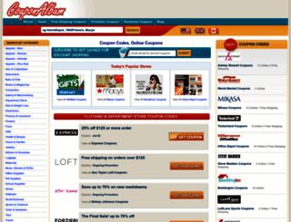 couponalbum.com screenshot