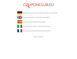 couponclub.eu screenshot