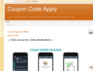 couponcodeapply.blogspot.in screenshot