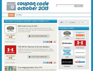couponcodeoctober2013.com screenshot
