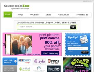 couponcodeszone.com screenshot