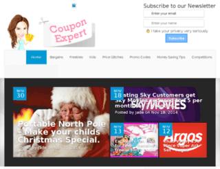 couponexpert.co.uk screenshot
