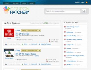 couponhatchery.com screenshot