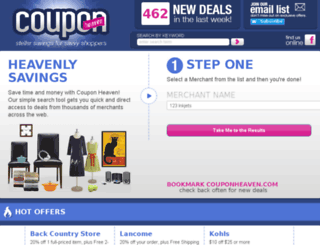 couponheaven.com screenshot