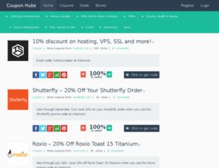 couponhubs.com screenshot