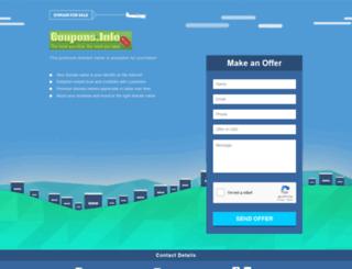 coupons.info screenshot