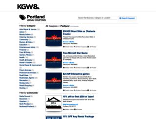 coupons.kgw.com screenshot