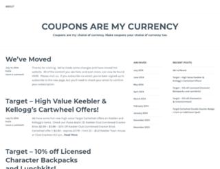 couponsaremycurrency.wordpress.com screenshot