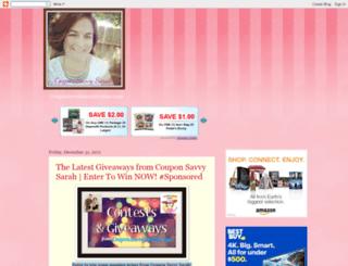 couponsavvysarah.blogspot.in screenshot