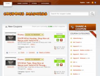 couponsmadness.com screenshot
