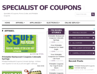 couponspecialist.com screenshot