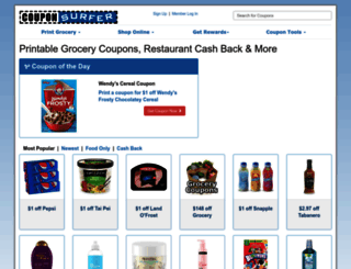 couponsurfer.com screenshot