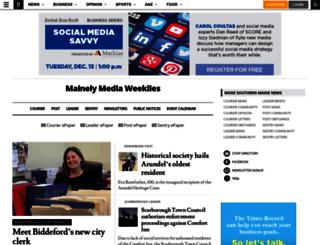 courier.mainelymediallc.com screenshot