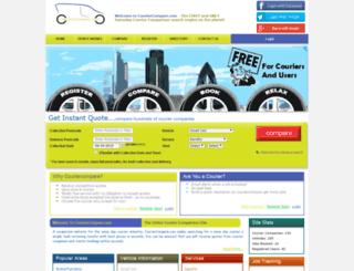 couriercompare.com screenshot