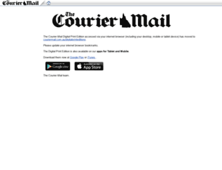couriermail.newspaperdirect.com screenshot