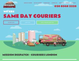couriers-london.com screenshot