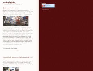 courierylogistica.wordpress.com screenshot