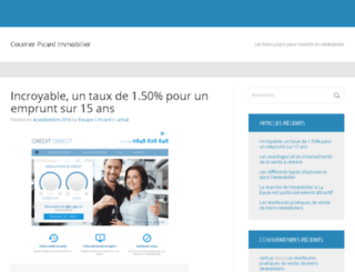 courrier-picard-immo.fr screenshot