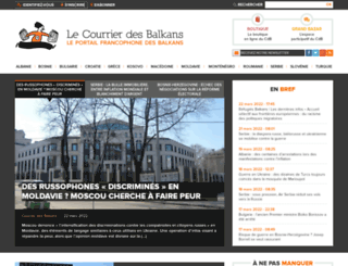courrierdesbalkans.fr screenshot