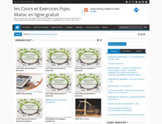 cours-fsjes.com screenshot