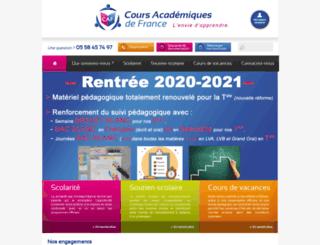 coursacademiques.fr screenshot
