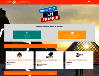 coursdete.campusfrance.org screenshot