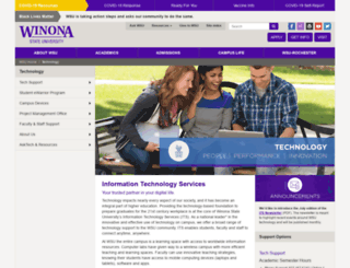 course1.winona.edu screenshot