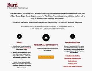 courseblogs.bard.edu screenshot